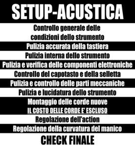 SETUP ACUSTICA