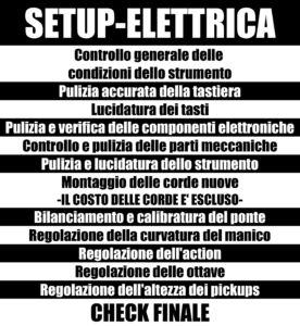 SETUP ELETTRICA